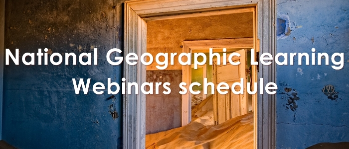 National geographic Learning Webinars Schedule